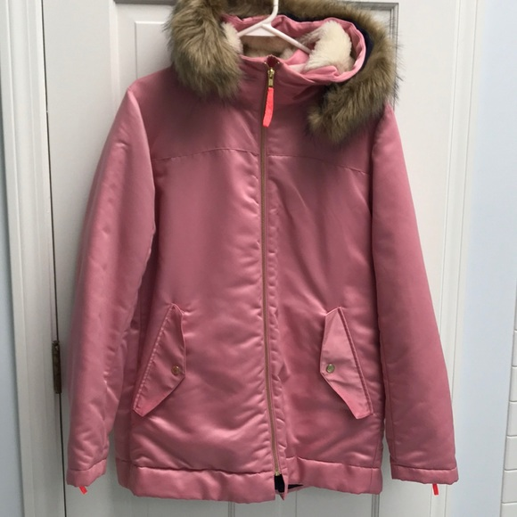 c0d03a96e1ff J. Crew Jackets   Blazers - J.Crew pink parka with quilted lining  298